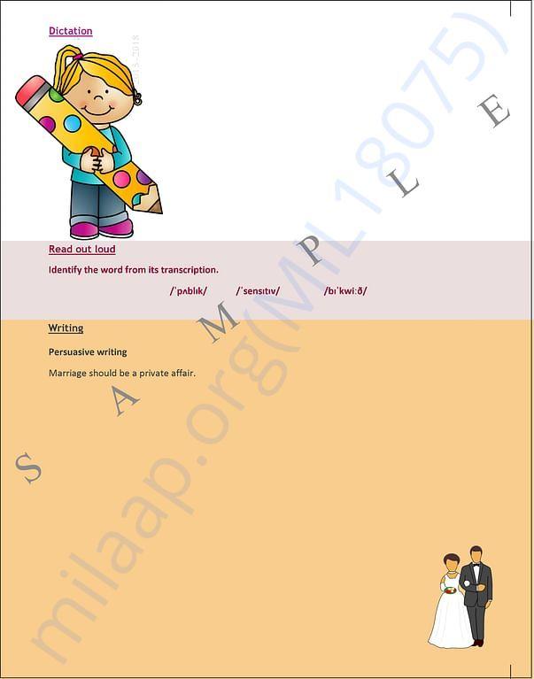 Sample color page back side