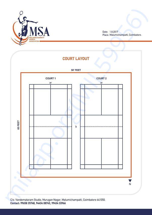 Open Badminton Court Layout