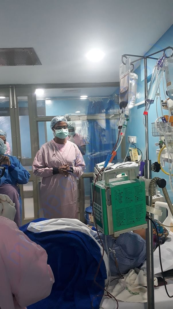 Prayers by the staff (Nurses n brother) at BMT ward