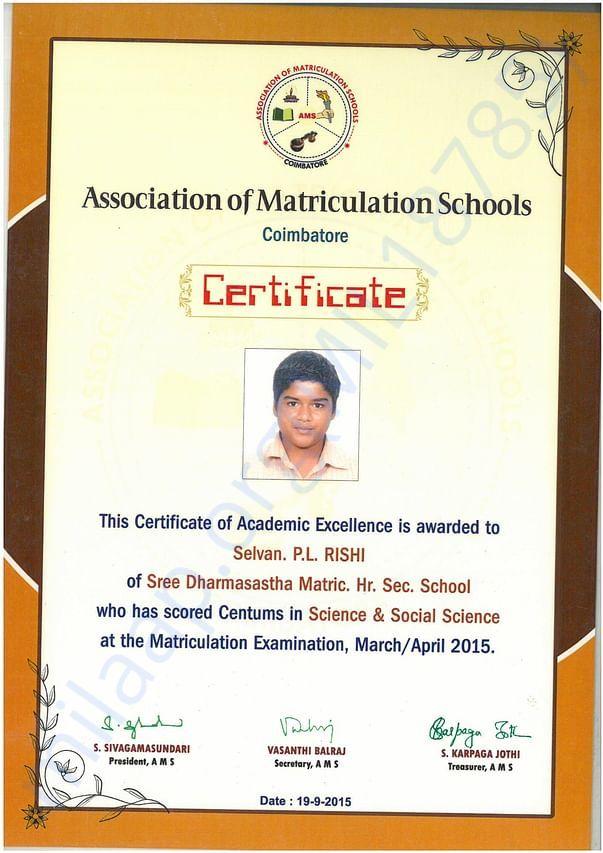 Best Academic Performance Certificate