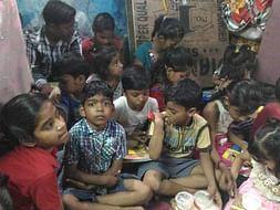 Evening class for Slum Children in Delhi