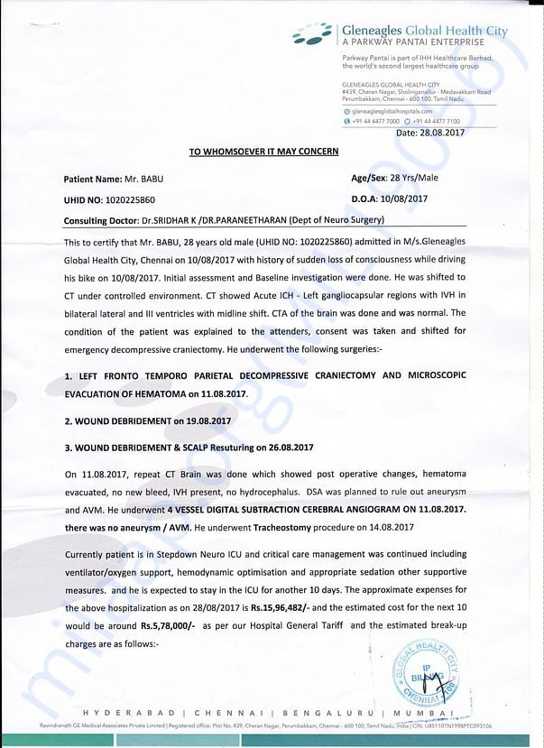 Medical Report from Global Health City