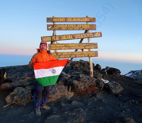 Mt. Kilimanjaro (5895 m) highest point of Africa