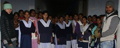 Happy faces in the school