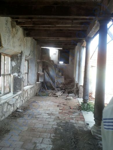 the tiles and walls damaged