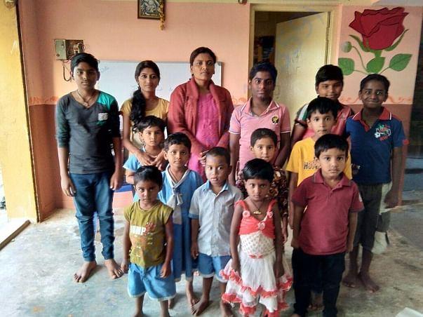 Mrs.Manjula with their children
