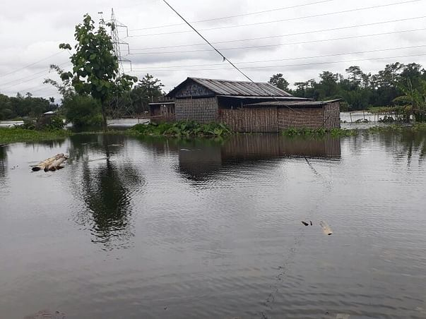 Help In A Medical And Flood Relief Camp For Flood Victims Of Rupkuria