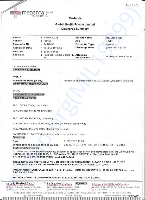 RECENT REPORT 2ND PAGE