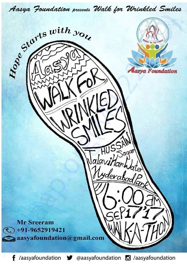 Be a part of the aasya old age home construction! Walk for old age ppl