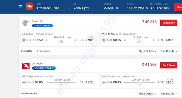 Flight tickets estimation