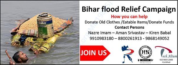 Bihar Flood Victims Campaign