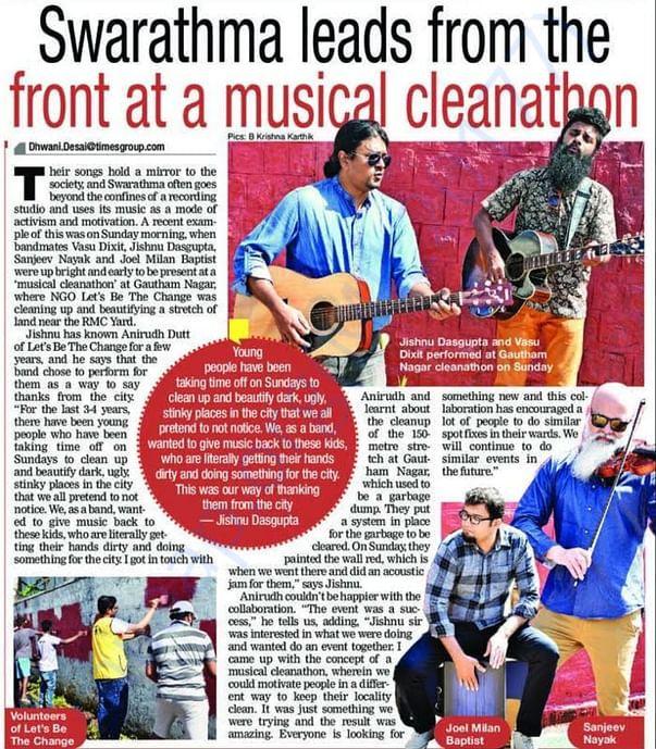 Musical Cleanathon with Swarathma