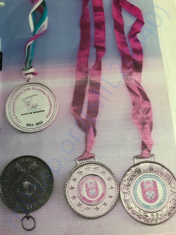 Few  national level and state level medals