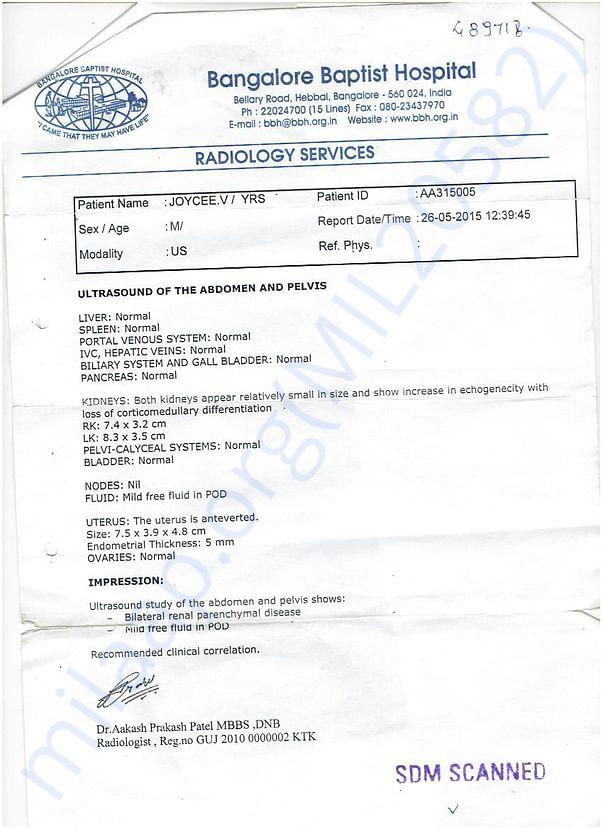 Bangalore Hospital Report.