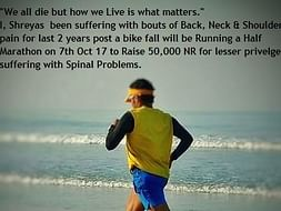 Support My Run To Fundraise For Spinal Surgeries Of Less Privileged