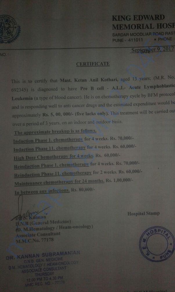 Doctor's Certificate
