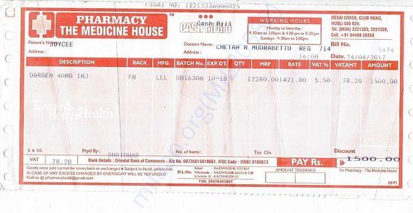 Medical Bills 1