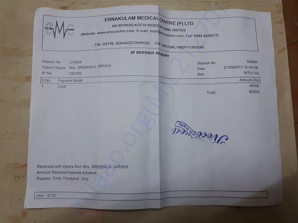 Balance payment for Neurosurgery