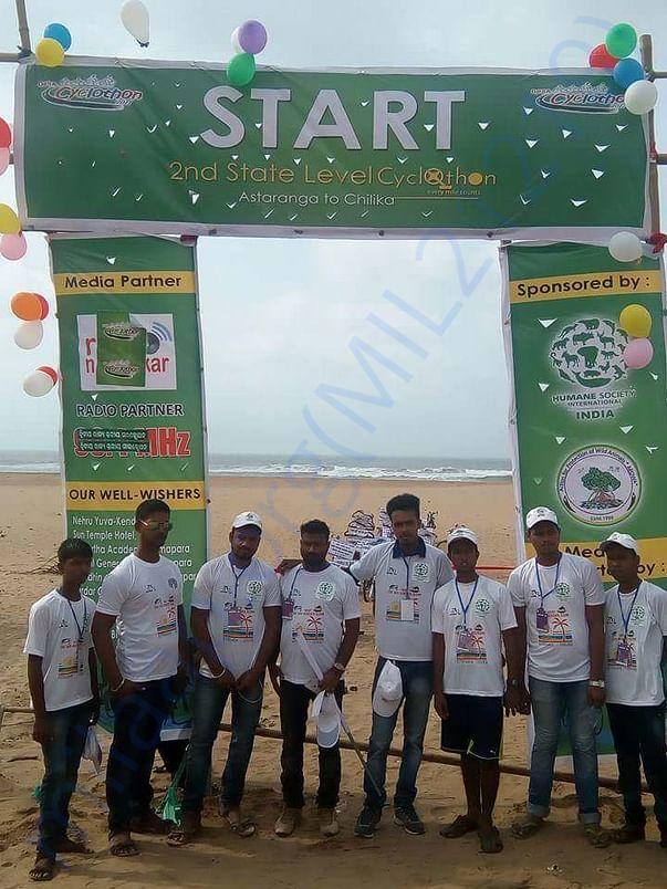 Team beforeinauguration of  2017 marathon