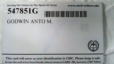 Patient ID Back side