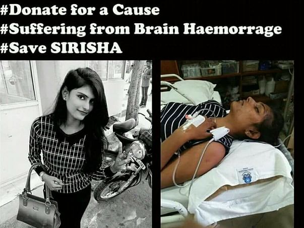 Help Sirisha an Orphan Fight Brain Haemorrhage. Help Save a life♥️