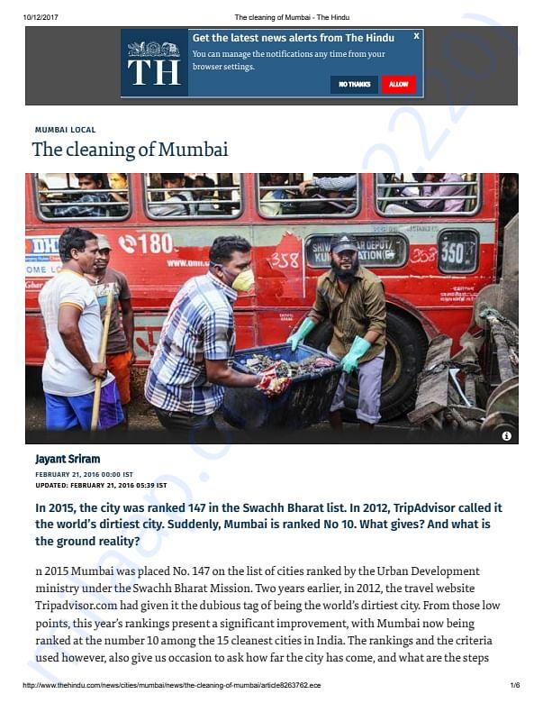 Clean Mumbai, Green Mumbai!