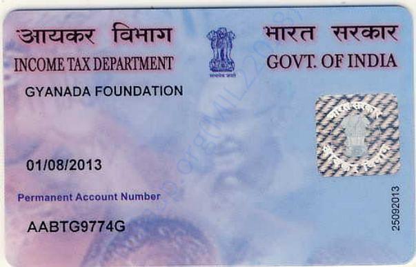 Gyanada Foundation PAN Card