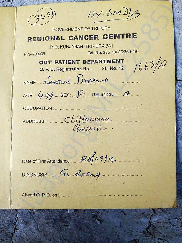 Regional Cancer Centre, OPD Card