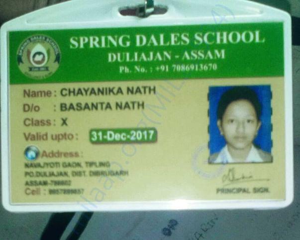 School identity card