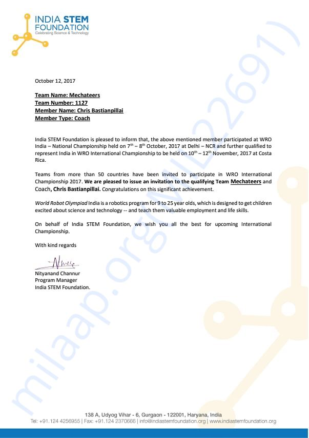 Qualification Letter_Mechateers