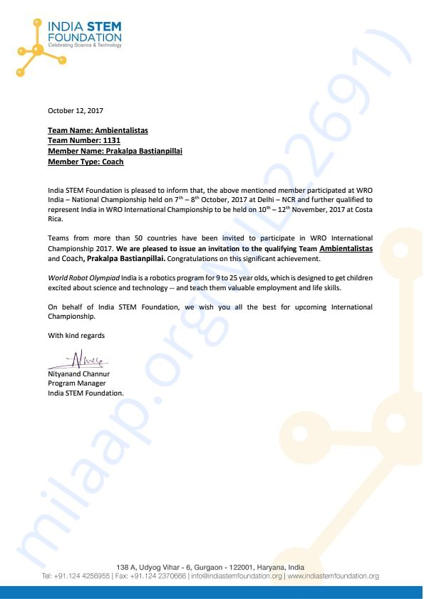 Qualification Letter_Ambientalistas