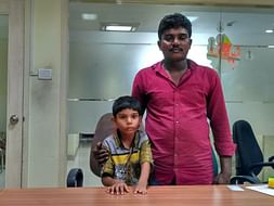 6-year-old Goutham with a deformed hand struggles to get by