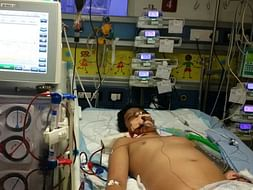 13-year-old Mujeeb is in a critical state in the ICU