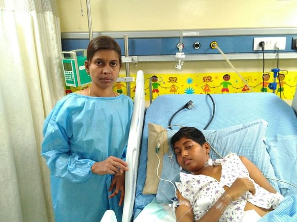 14-year-old Venkata suffering from a severe swollen stomach needs help