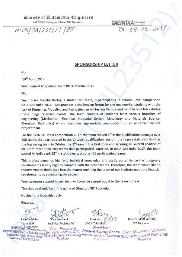 DEAN Letter