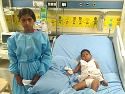 6-year-old Sharanya is vomitting blood and needs urgent support