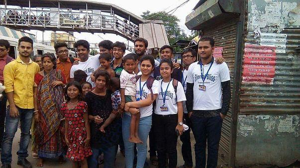 Our work on the slum near barasat platform
