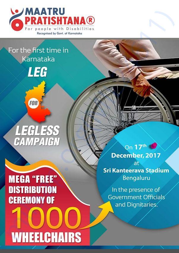 Leg for legless wheelchair campaign