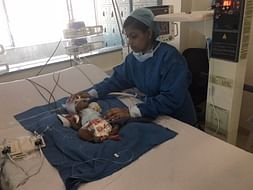 Sunita's baby is in a critical state in the ICU and needs our help