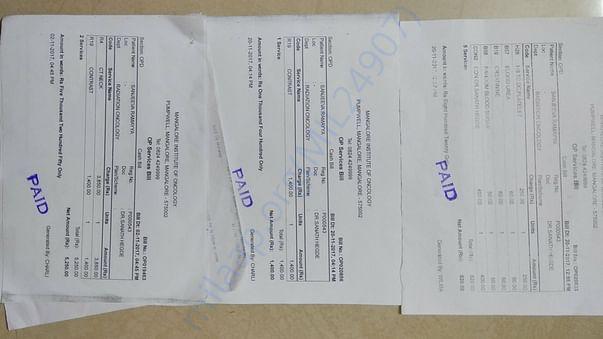 Some checkup bills