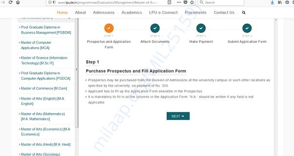 Admission and Follow up Process