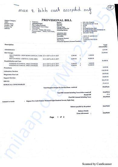 Bills as of Nov 28