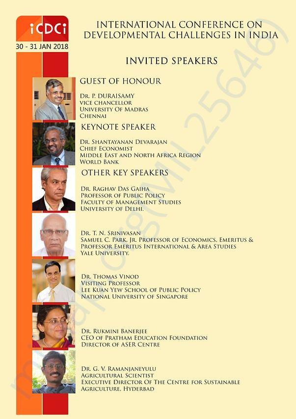 List of Speakers