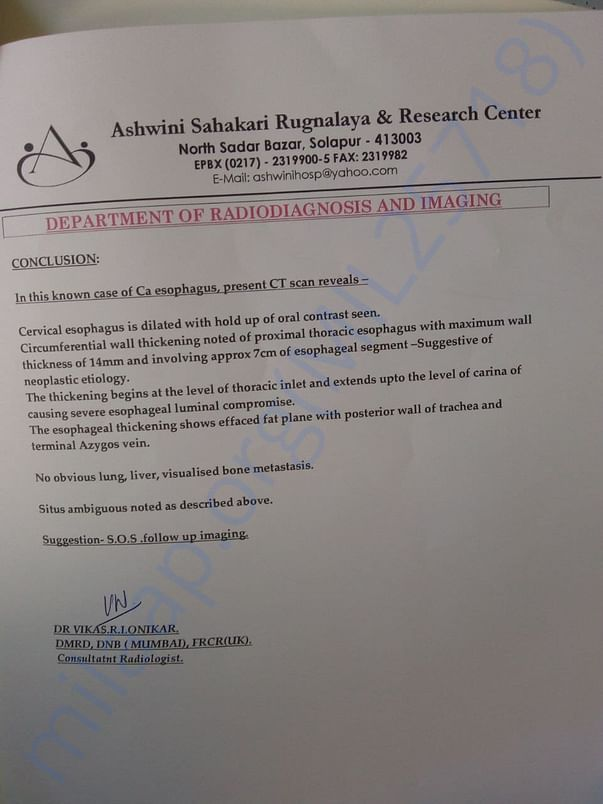 Radiology Department Report
