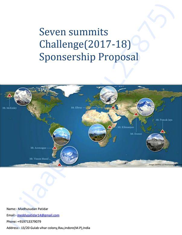Seven summit challenge