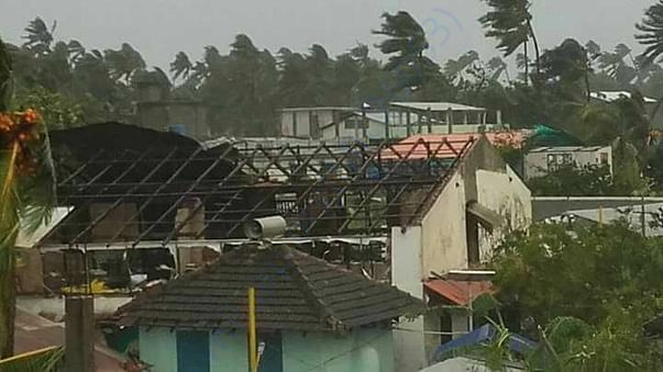 House destroyed by Ockhi Cyclone