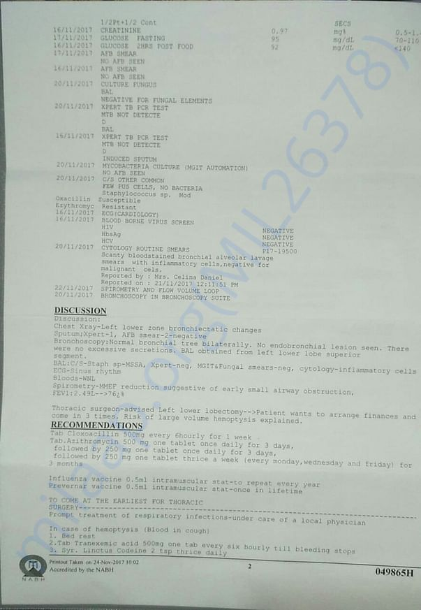 Medical report page 2