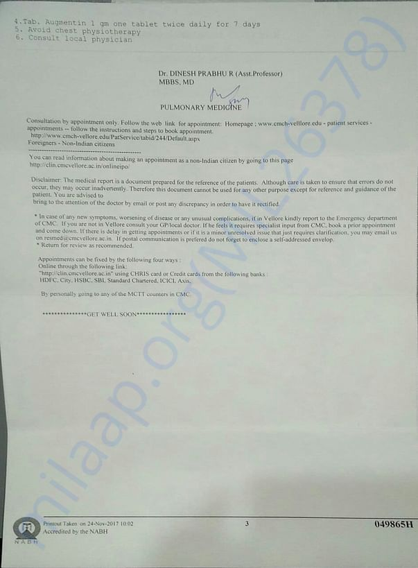 Medical report page 3