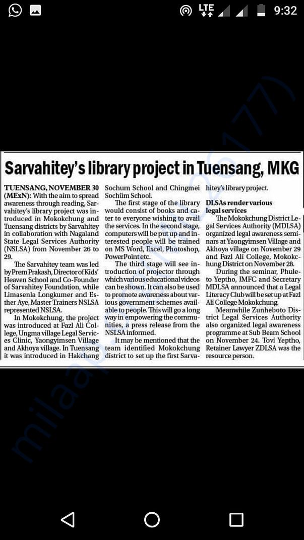 Press coverage in Nagaland