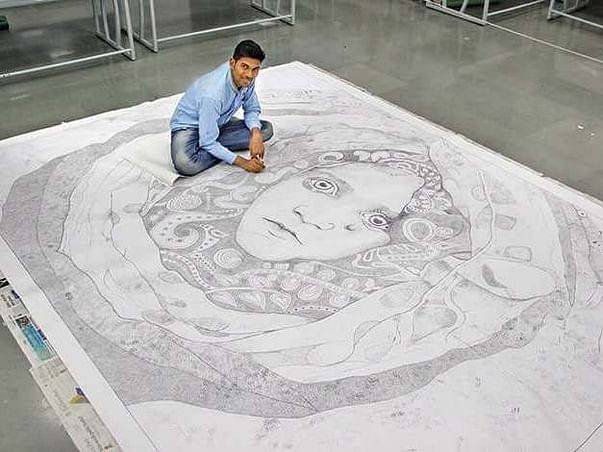 Conservation Of World Record Artwork- Largest Pen Dot Sketch